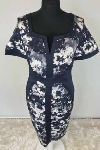 Bnwt Una Navy Shift Dress Size Sleeved Short Per amp;s 12 M Uk Bvtw0qxnE