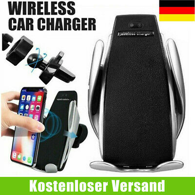 qi auto kfz handy halterung induktions ladeger t clamping car wireless charger ebay. Black Bedroom Furniture Sets. Home Design Ideas