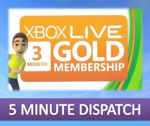 3-MONTH-XBOX-LIVE-GOLD-MEMBERSHIP-MICROSOFT-XBOX-360-XBOX-ONE-FAST-DISPATCH
