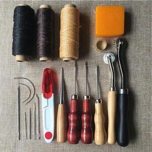 13pcs-Outils-Cuir-Artisanat-Poincon-Trousse-Couture-Alene-Outils-a-Main