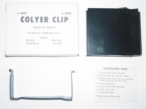 Colyer 6 Round Clip For Remington 700 BDL 270 30-06 7mm 264 C47 IN BOX