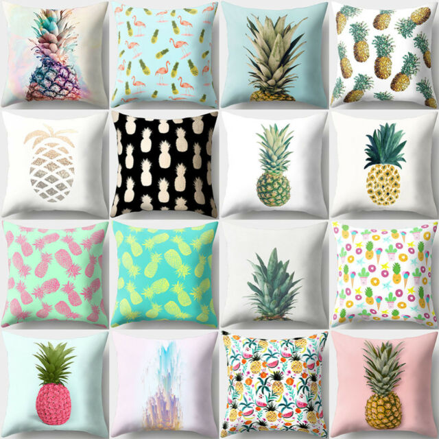 Pineapple Print Polyester Pillow Case Square Cushion Cover Home Decor Novelty