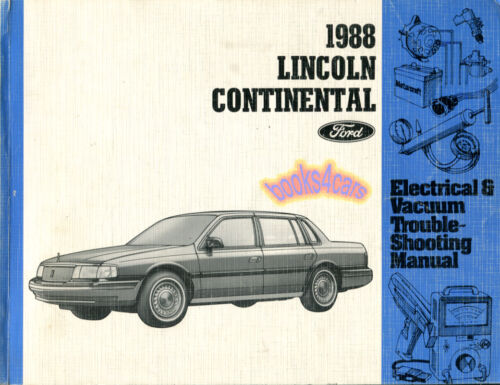 SHOP MANUAL CONTINENTAL SERVICE REPAIR 1988 LINCOLN ELECTRICAL BOOK HAYNES