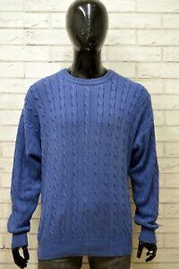 Maglione-Uomo-FILA-Taglia-Size-50-Maglia-Pullover-Sweater-Man-Blu-Vintage-Cotone