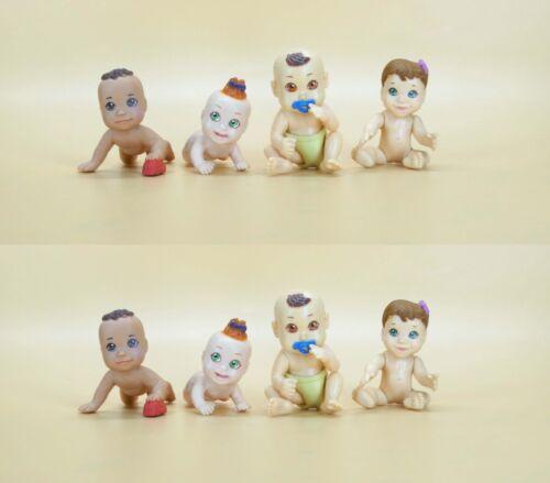 """1.5/""""-2/"""" #k7 lot of 8 Doll Babies Baby in my Pocket mini jakks figure"""