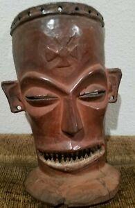 Vintage-Tribal-Hand-Carved-Wood-Mask-With-Teeth