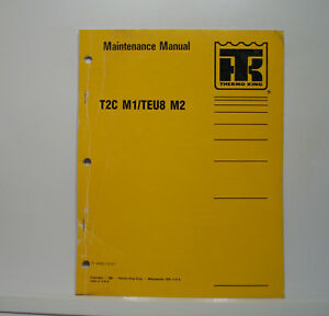 Details about Thermo King Bus Air Conditioning T2C Maintenance Manual on