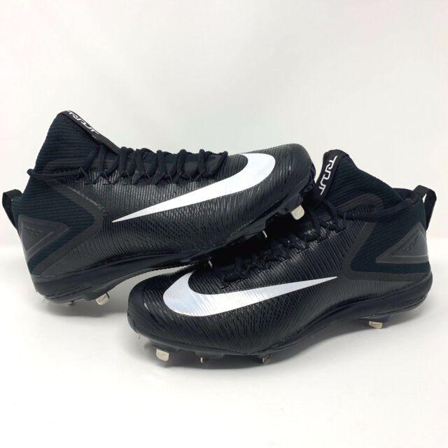 the latest e910a 02d35 Nike Force Zoom Mike Trout 3 Sz. 13 Black White 856503-011 Metal Baseball