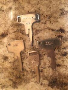 Vintage Honda OEM Factory Pre Cut Motorcycle Key # H4505