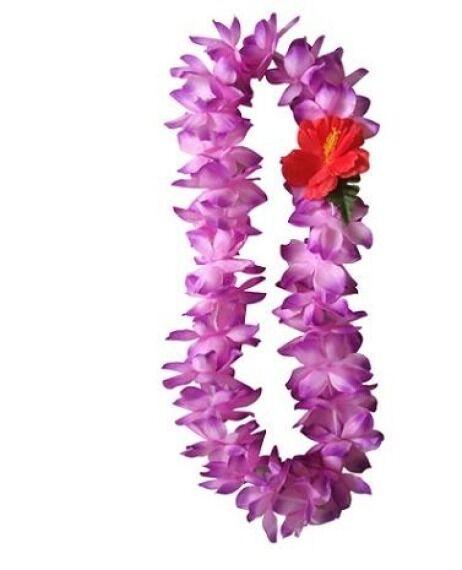Six hawaiian hawaii silk flower lei hula luau party wedding purple six hawaiian hawaii silk flower lei hula luau party wedding purple qty 6 leis mightylinksfo