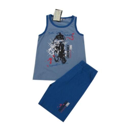 Blue seven T-shirt Short Set 2 Pièces Combinaison Garçon Bleu Taille 92,104,110