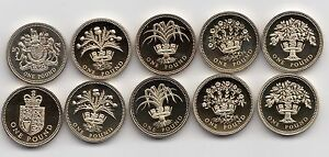 UK-PROOF-One-Pound-1-Coin-1983-to-1999-Choose-your-year