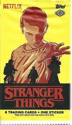 2018 Stranger Things base set 1-100 character stickers 1-20 120 total cards