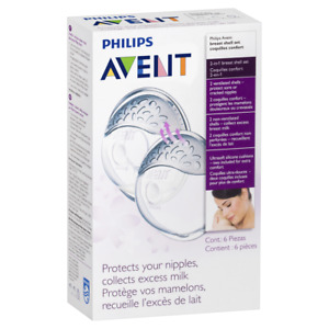 AVENT Breast Shell Set 6 Pieces Protect Sore or Cracked Nipples SCF157/02