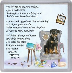 Rottweiler-Dog-Coaster-034-HOME-SWEET-HOME-Poem-034-by-Starprint