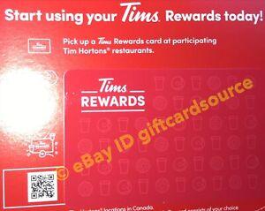 TIM-HORTONS-CANADA-REWARDS-CARD-2019-BRAND-NEW-GIFT-NO-VALUE