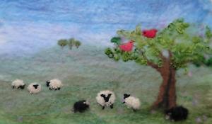 un soigneusement conçu Craft Kit Avec à Artfelt moutons paysage photo feutre Kit
