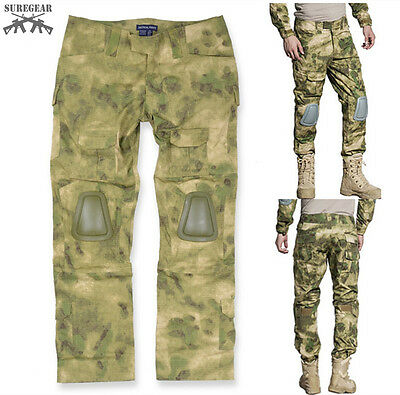 A-TACS FG Gen3 G3 Combat PANTS Military Tactical BDU Airsoft Trousers w/ Pads