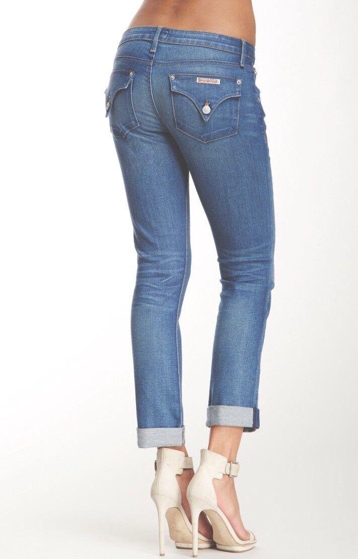 f01348793de HUDSON Classic Rise BACARA Straight FLOOD Cuff Jeans SUS Wash 24 NWOT