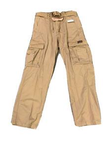Aeropostale Para Hombres Pantalones Cargo Estrategico Con Cinturon Tamano 30 X 32 Nuevo Con Etiquetas Ebay