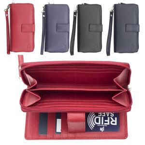 Femme-RFID-Bloquant-luxe-en-cuir-sac-a-main-Smart-Phone-Purse-Wallet