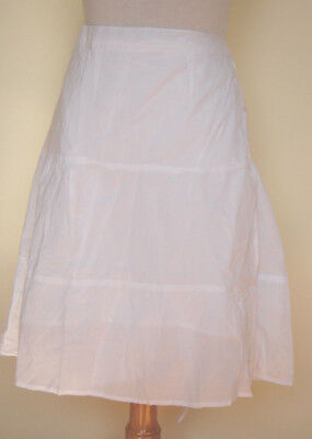 """New/_Lovely/_Boho/_Wrap Around Lined Cotton White Skirt 21/""""Long/_Free Size"""