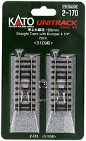 Kato Ho Scale Staight Track With Bumper 109mm 4 1/4 (2 Pc) 2-170