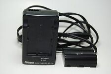 GENUINE NIKON MH-18a QUICK CHARGER + BATTERY