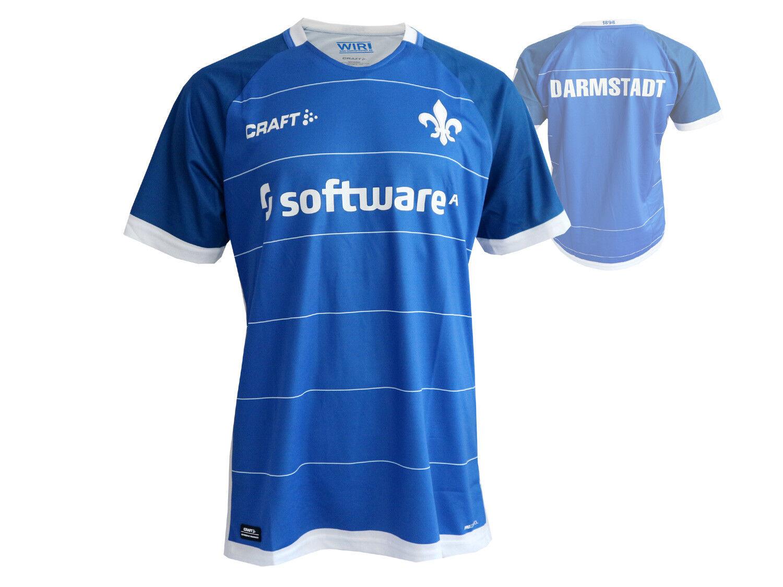 Craft SV Darmstadt 98 Home Fußballtrikot Fußballtrikot Fußballtrikot blau Shirt Bundesliga D98 Gr.S- XXL c2783c