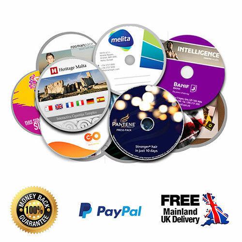 25 X Custom Printed Dvd S Cd Sleeves Cd Duplication Ebay