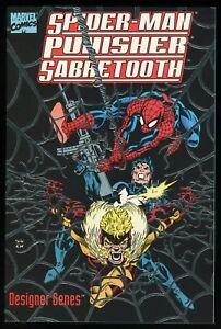Spider-Man-Punisher-Sabretooth-Designer-Genes-Graphic-Novel-Trade-Paperback-TPB