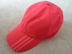 d6270d882f8 Women s ADIDAS PINK CORAL 3 STRIPES LOGO Baseball Cap Hat One Size ...