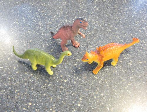 "3 NEW LARGE ASSORTED TOY DINOSAURS 6/"" DINOSAUR FIGURES DINO ANIMAL KIDS PLAYSET"