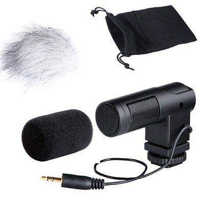 BY-V01 Stereo Windproof Condenser Microphone For Canon Nikon Camera Video Hot