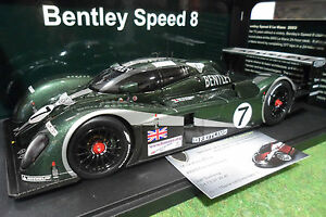 BENTLEY-SPEED-8-7-vert-Winner-Le-Mans-2003-1-18-AUTOart-80353-voiture-miniature