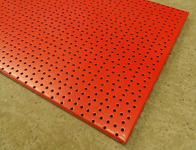 4x LOCHWAND TEGOMETALL TEGO 100 x 40 cm GELOCHT ROT RÜCKWAND LOCHWAND WAND