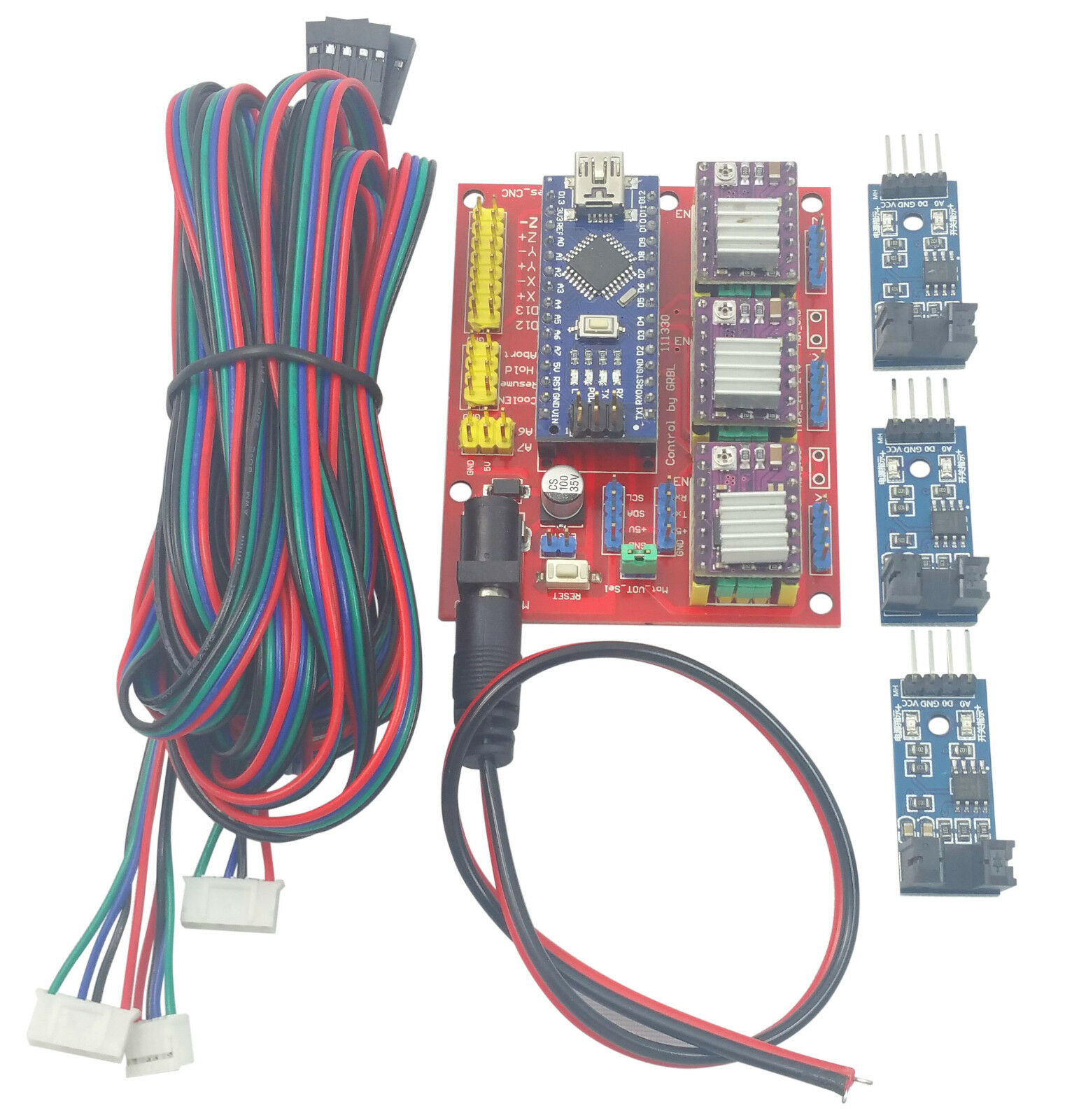 Details about Arduino Nano CNC Shield DRV8825 Kit w/ 3x Optical Sensor + 3x  2M Stepper Cables