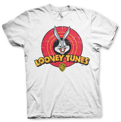 Officially Licensed Looney Tunes Distressed Logo Men/'s T-Shirt S-XXL Sizes