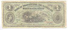1875 ARGENTINA BANCO PROVINCIAL DE SANTA FE 1 $ UN PESO Ps 813 ROSARIO RARE ABNC