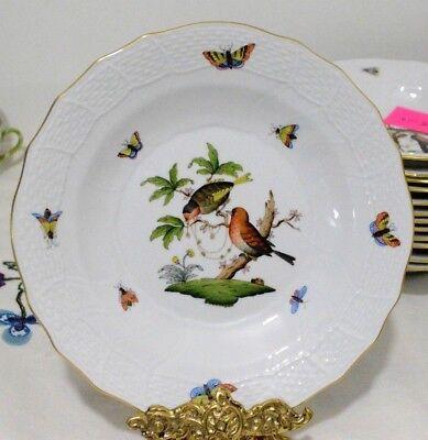 Herend ROTHSCHILD BIRD RO 1520 Dessert Pie Plate 6527739