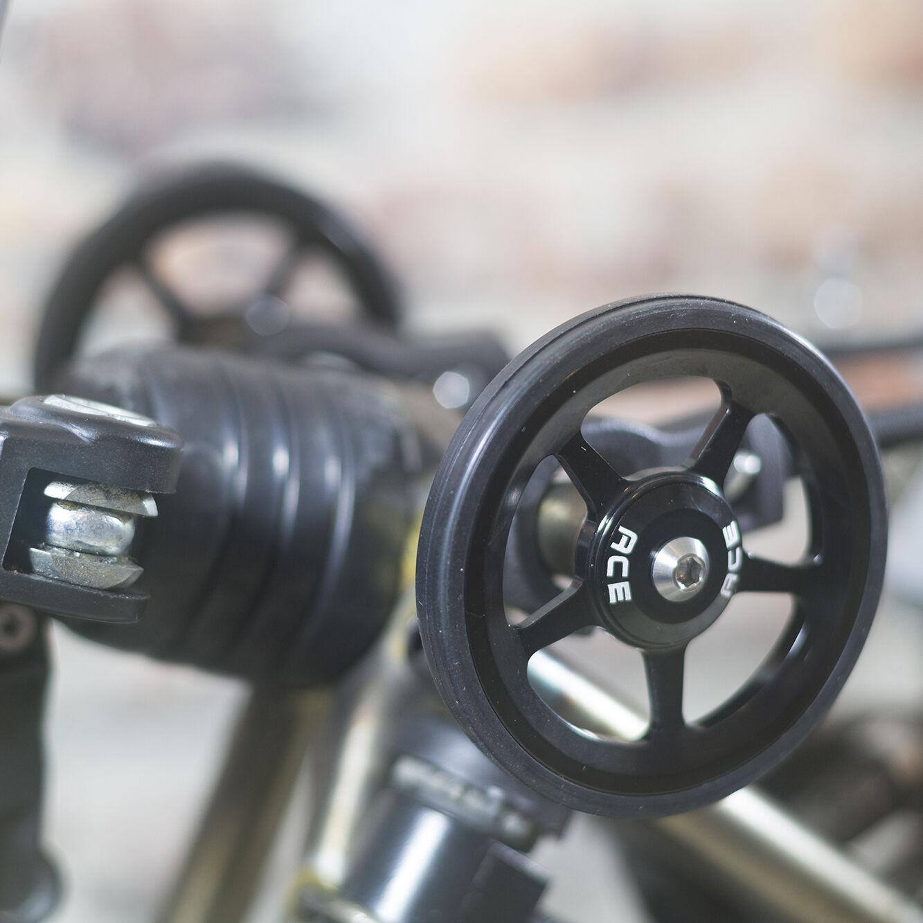 Super Leichtgewichtig Einfach Reifen + Titan Bolzen für Brompton Schwarz