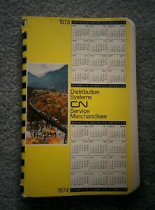 CN Distribution Systems CALENDAR 1973 1974 use again in 2029 CANADIAN NATIONAL