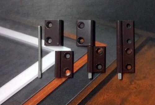 Alu Scharnier 3er-Sparset  Insektenschutz Fliegengitter Türen Fenster 2 Farben