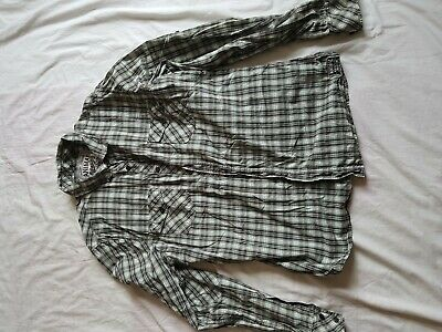 Mens Animal Green Check Long Sleeve Shirt Size Xl 42 Chest Ebay