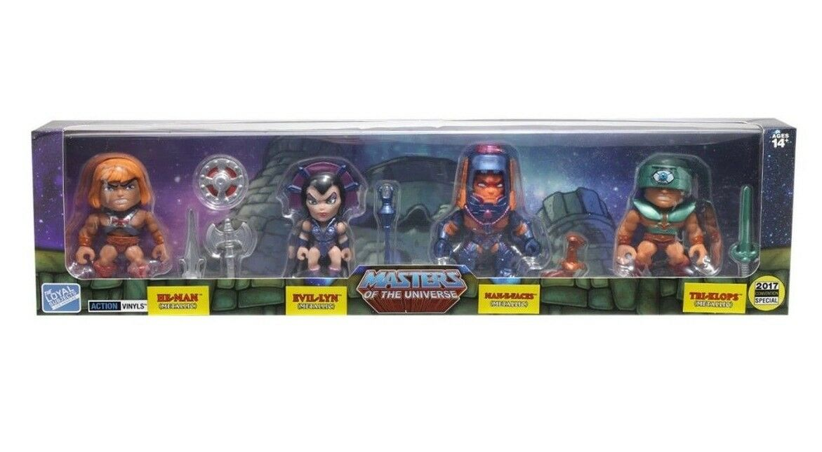 Loyal Subjects Masters of the Universe Metallic 4 Pack FIGURE SET Hot Topic