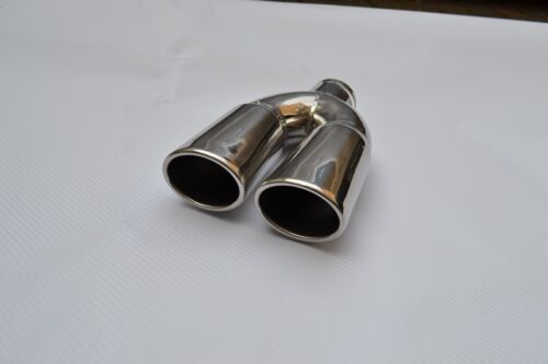 ABX BMW VW VAUXHALL NEW STAINLESS STEEL TWIN EXHAUST MUFFLER TAIL PIPE TIP