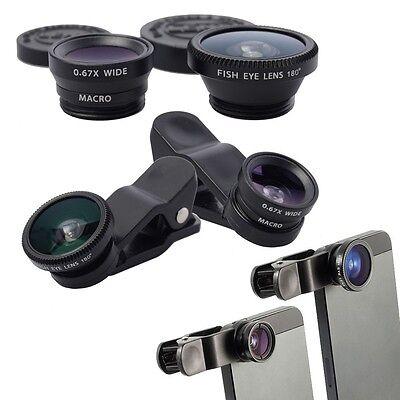 Black Fisheye Lens+Wide Angle+Micro Lens Street Snap For Samsung Galaxy S5 I9600