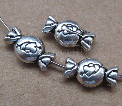 20pc Tibetan Silver 2-Sided Love Candy Spacer Beads Accessories Findings BP0133