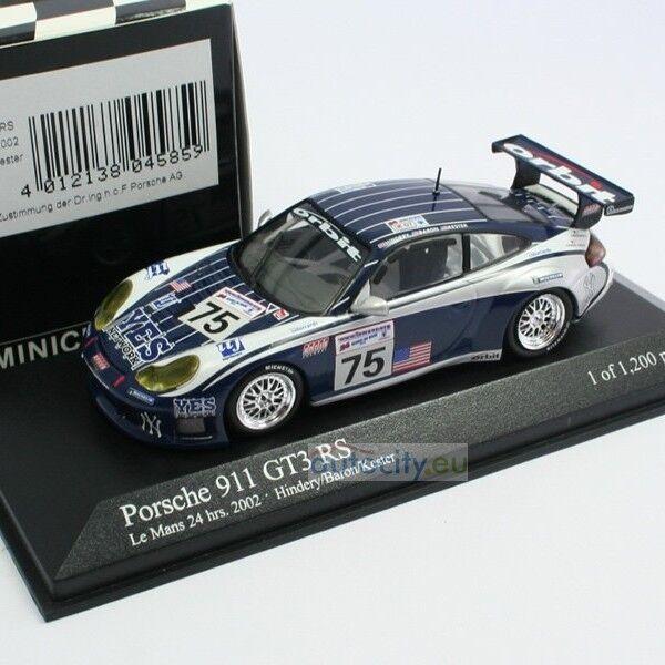 MINICHAMPS PORSCHE 911 GT3 RS TEAM ORBIT 24H LE MANS HINDERY BARON KES 400026975