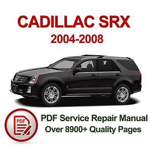 cadillac srx 2004 2008 service repair manual pdf 2500 pages ebay rh ebay com 2004 cadillac srx repair manual download 2004 cadillac srx owners manual pdf